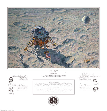 Alan Bean - IN FLIGHT -  LIMITED EDITION PRINT Published by the Greenwich Workshop