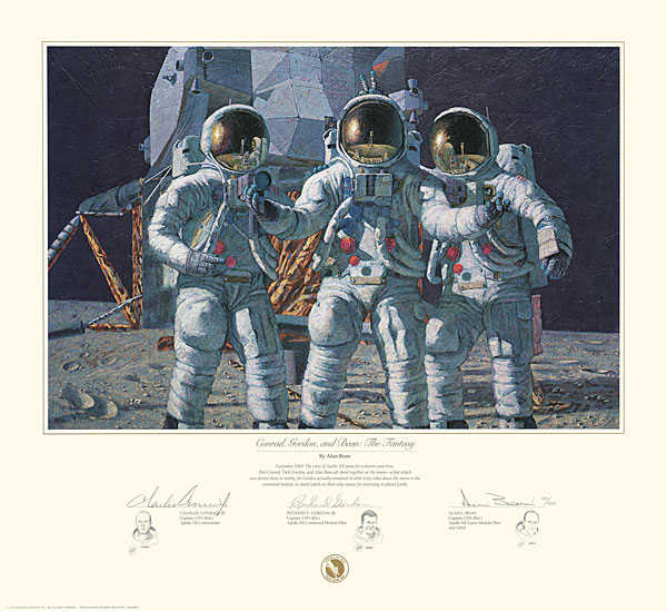 Alan Bean - CONRAD GORDON AND BEAN THE FANTASY -  L.E.PRINT Published by the Greenwich Workshop
