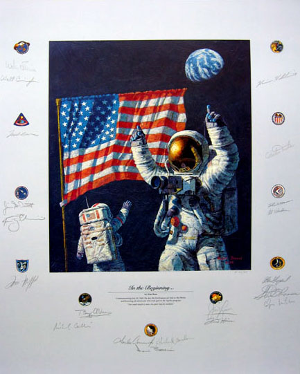 """In the Beginning..."" (detail) by Alan Bean"
