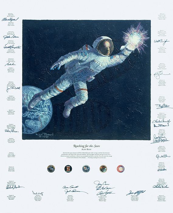 Alan Bean - REACHING FOR THE STARS -  LIMITED EDITION CANVAS Published by the Greenwich Workshop