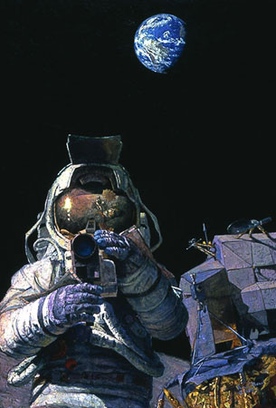 Alan Bean - MOON ROVERS -  LIMITED EDITION PRINT Published by the Greenwich Workshop