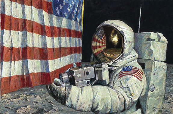 Alan Bean - STRAIGHTENING OUR STRIPES -  LIMITED EDITION PRINT Published by the Greenwich Workshop