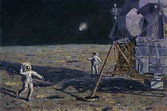 Alan Bean - LONE STAR -  LIMITED EDITION CANVAS Published by the Greenwich Workshop