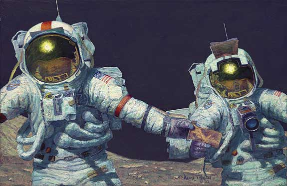 Alan Bean - RIGHT STUFF FIELD GEOLOGISTS -  LIMITED EDITION PRINT Published by the Greenwich Workshop