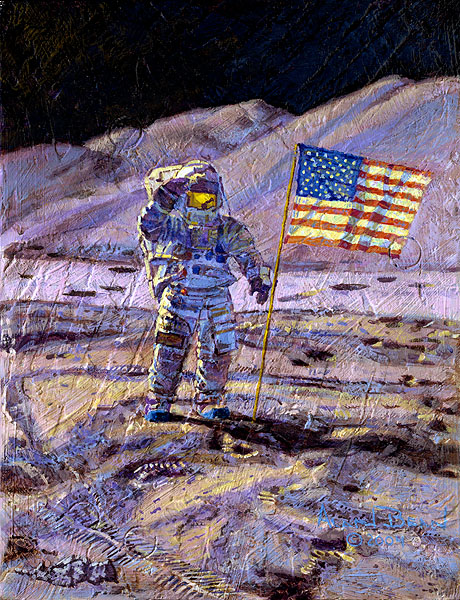 Alan Bean - Jim Irwin, Indomitable Astronaut -  LIMITED EDITION CANVAS Published by the Greenwich Workshop