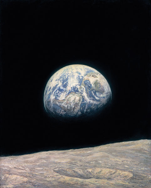Alan Bean - Mother Earth -  LIMITED EDITION CANVAS Published by the Greenwich Workshop
