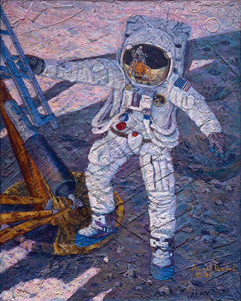 Alan Bean - A Giant Leap -  SMALLWORK CANVAS EDITION Published by the Greenwich Workshop
