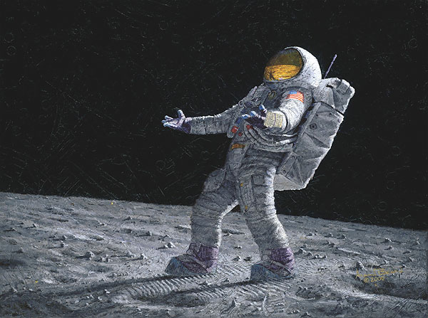 Alan Bean - Is Anyone Out There? -  MASTERWORK CANVAS EDITION Published by the Greenwich Workshop
