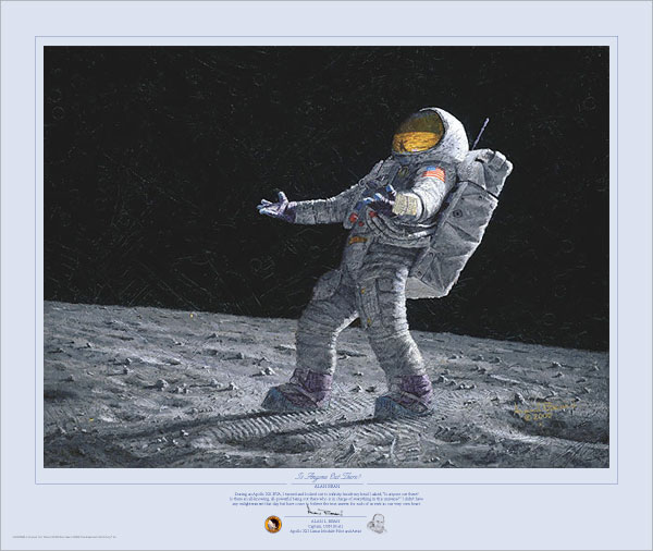 Alan Bean - Is Anyone Out There? -  LIMITED EDITION PRINT Published by the Greenwich Workshop