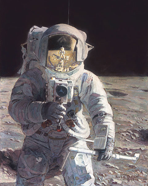 Alan Bean - Pete and Me -  LIMITED EDITION PRINT Published by the Greenwich Workshop