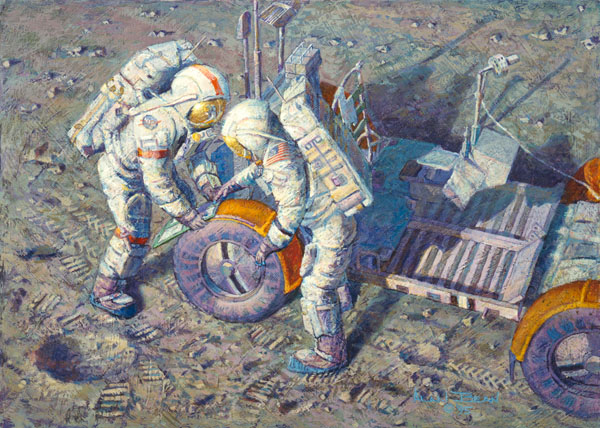 Alan Bean - Fender Lovin´ Care -  SMALLWORK CANVAS EDITION Published by the Greenwich Workshop