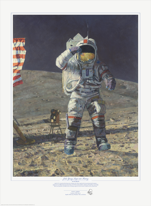 Alan Bean - John Young Leaps into History -  LIMITED EDITION PRINT Published by the Greenwich Workshop