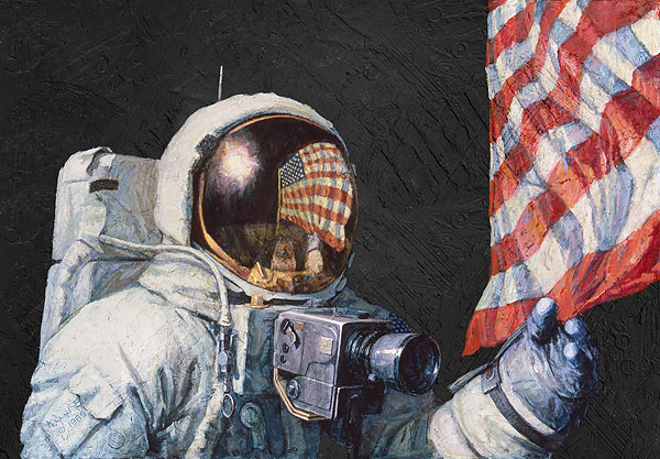 Alan Bean - Beyond A Young Boy´s Dream -  LIMITED EDITION CANVAS Published by the Greenwich Workshop