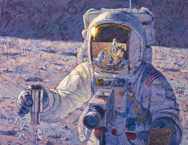 Alan Bean - A New Frontier -  LIMITED EDITION CANVAS Published by the Greenwich Workshop