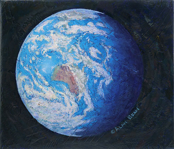 Alan Bean - A Jewel in the Heavens -  LIMITED EDITION CANVAS Published by the Greenwich Workshop