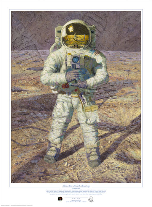 Alan Bean - First Men: Neil A. Armstrong -  LIMITED EDITION PRINT Published by the Greenwich Workshop