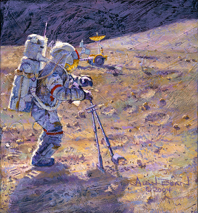 Alan Bean - Some Tools of Our Trade -  SMALLWORK CANVAS EDITION Published by the Greenwich Workshop