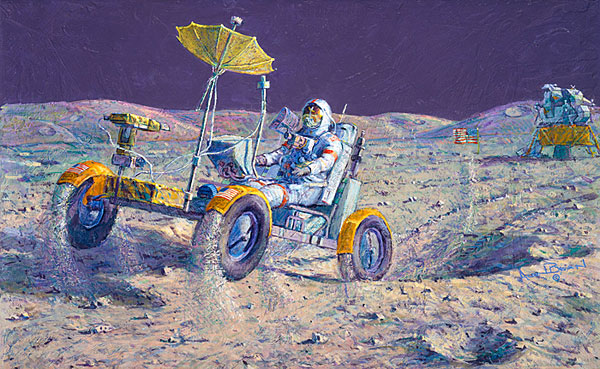 Alan Bean - Lunar Grand Prix -  LIMITED EDITION CANVAS Published by the Greenwich Workshop