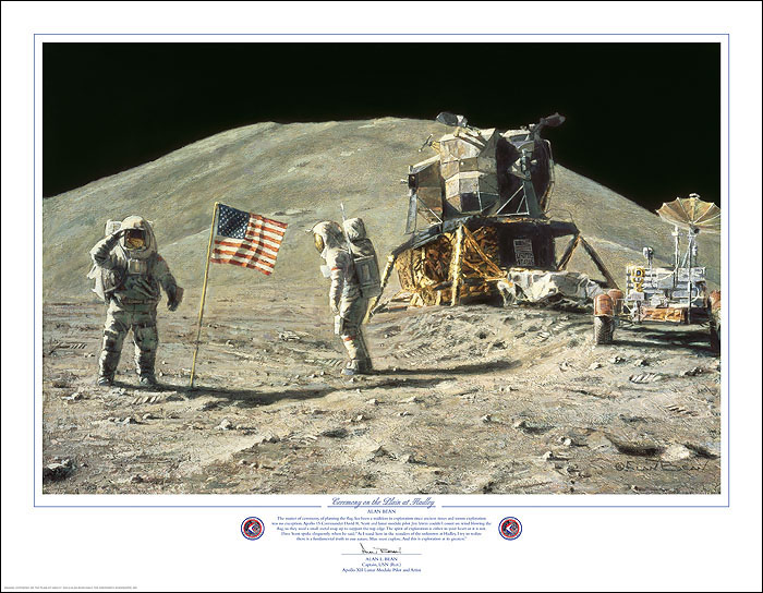 """Ceremony on the Plain at Hadley"" by Alan Bean"
