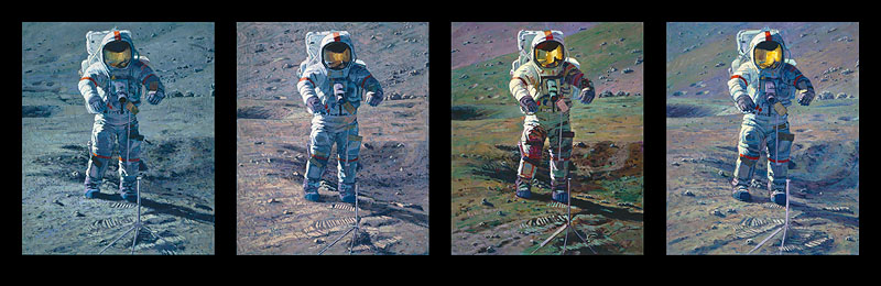 Alan Bean - Apollo Moonscape, An Explorer Artist´s Vision -  MASTERWORK CANVAS EDITION Published by the Greenwich Workshop