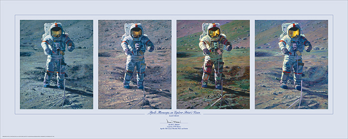 Alan Bean - Apollo Moonscape, An Explorer Artist´s Vision -  LIMITED EDITION PRINT Published by the Greenwich Workshop