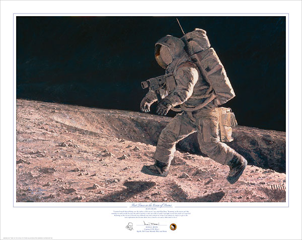 Alan Bean - Fast Times on the Ocean of Storms -  LIMITED EDITION PRINT Published by the Greenwich Workshop