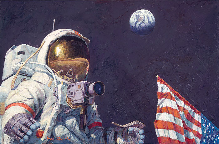 Alan Bean - The Last Man on the Moon -  LIMITED EDITION CANVAS Published by the Greenwich Workshop