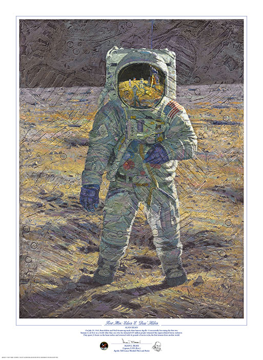 Alan Bean - First Men: Edwin E. ´Buzz´ Aldrin -  LIMITED EDITION PRINT Published by the Greenwich Workshop