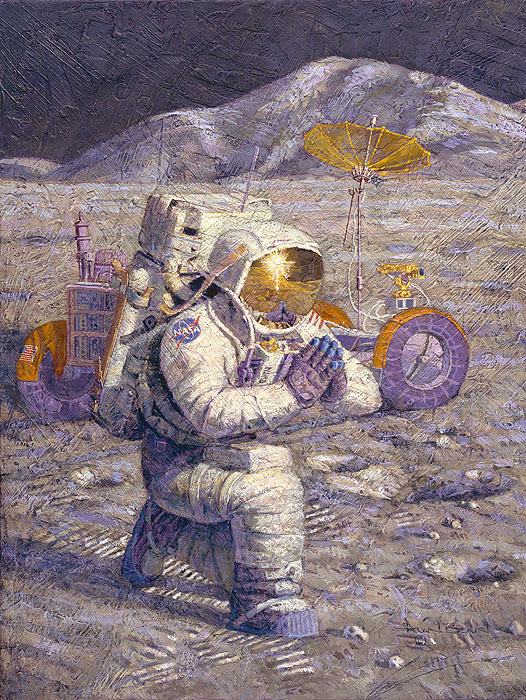 Alan Bean - We Came in Peace for All Mankind -  LIMITED EDITION CANVAS Published by the Greenwich Workshop