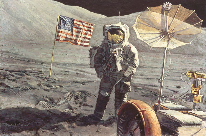 Alan Bean - Savoring the Moment -  LIMITED EDITION CANVAS Published by the Greenwich Workshop