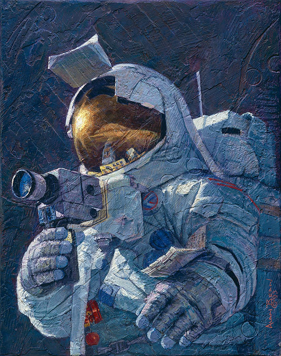 Alan Bean - My Brother, Jim Irwin -  LIMITED EDITION CANVAS Published by the Greenwich Workshop