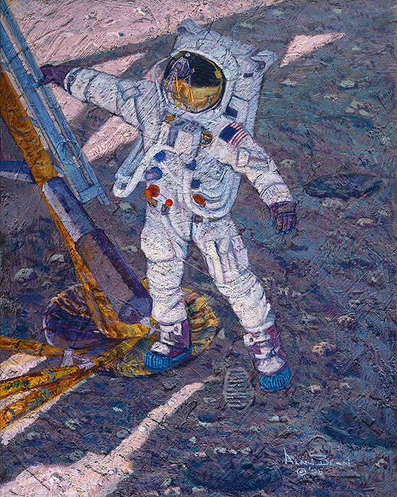 Alan Bean - The First Human Footprint -  LIMITED EDITION CANVAS Published by the Greenwich Workshop