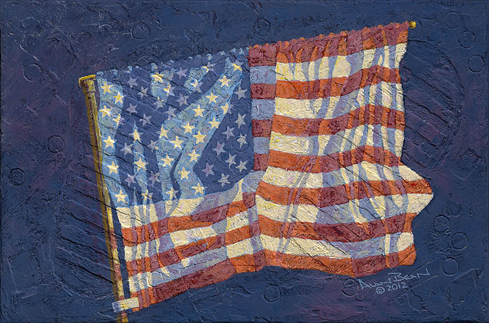 Alan Bean - First Flag -  LIMITED EDITION CANVAS Published by the Greenwich Workshop