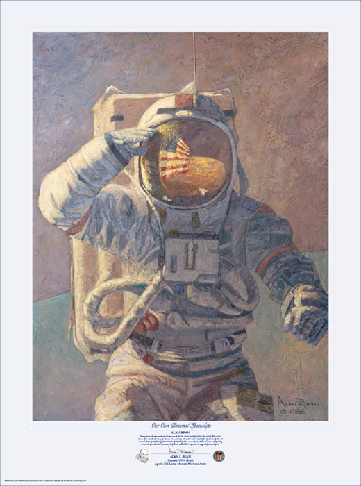 Alan Bean - Our Own Personal Spaceships -  LIMITED EDITION PRINT Published by the Greenwich Workshop