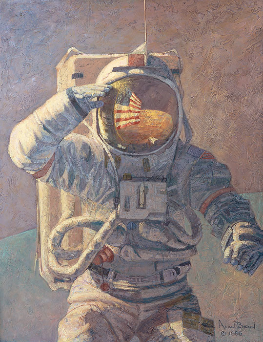 Alan Bean - Our Own Personal Spaceships -  LIMITED EDITION CANVAS Published by the Greenwich Workshop