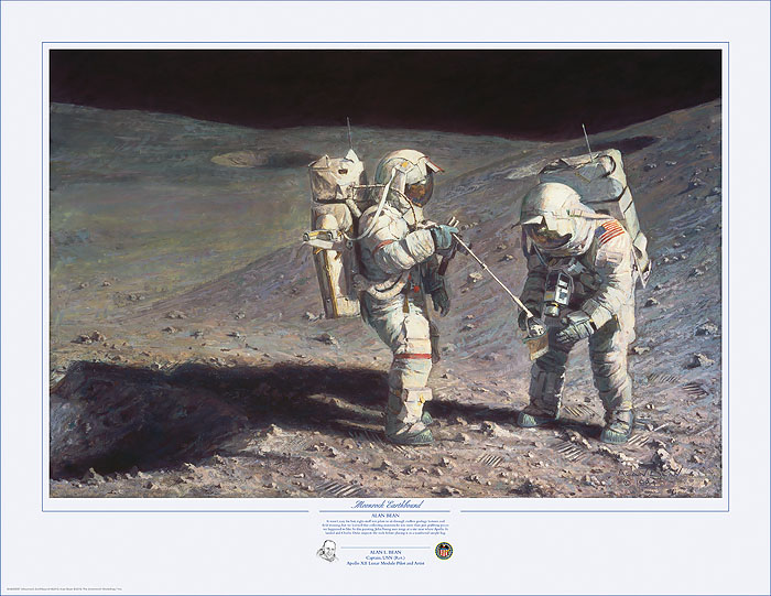 Alan Bean - Moonrock-Earthbound -  LIMITED EDITION PRINT Published by the Greenwich Workshop