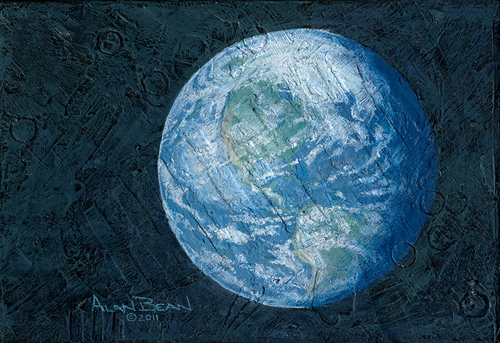 Alan Bean - This Beautiful Planet is Revolving Around the Three of Us -  LIMITED EDITION CANVAS Published by the Greenwich Workshop