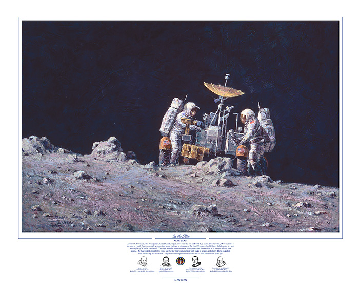 Alan Bean - On the Rim -  LIMITED EDITION PRINT Published by the Greenwich Workshop