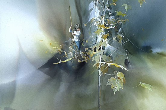 Carolyn Blish - LAST LEAVES -  LIMITED EDITION PRINT Published by the Greenwich Workshop