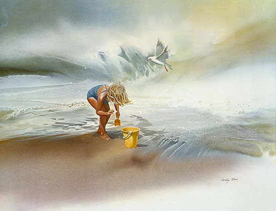 Carolyn Blish - SAND TREASURES -  LIMITED EDITION PRINT Published by the Greenwich Workshop