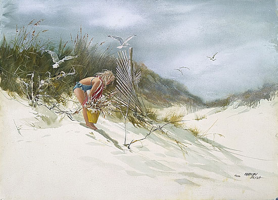 Carolyn Blish - GATHERING SEA OATS -  LIMITED EDITION PRINT Published by the Greenwich Workshop