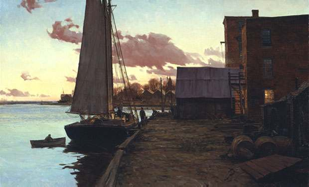Christopher Blossom - SOUTHPORT AT TWILIGHT -  LIMITED EDITION PRINT Published by the Greenwich Workshop