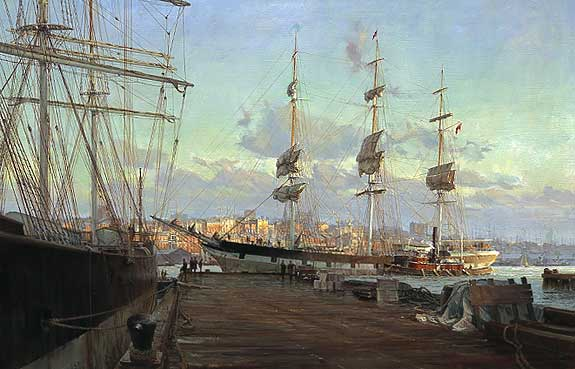 Christopher Blossom - ALLERTON ON THE EAST RIVER -  LIMITED EDITION PRINT Published by the Greenwich Workshop