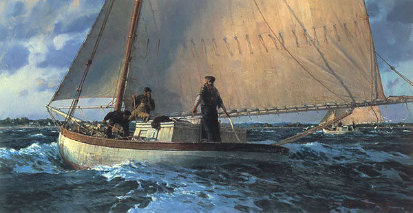 Christopher Blossom - AFTER THE LAST DRIFT -  LIMITED EDITION PRINT Published by the Greenwich Workshop