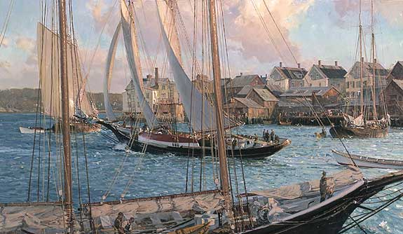 Christopher Blossom - ARTHUR JAMES HEADING OUT -  LIMITED EDITION PRINT Published by the Greenwich Workshop