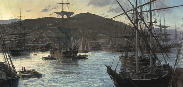 Christopher Blossom - GOLD RUSH TWILIGHT(REMARQUE) -  LIMITED EDITION PRINT Published by the Greenwich Workshop