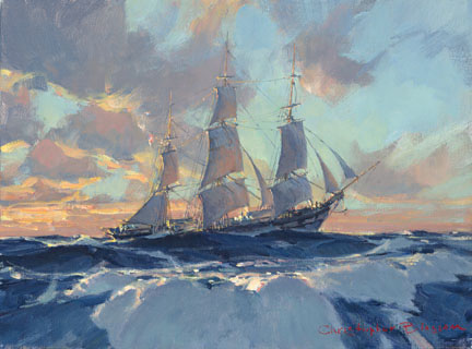 Christopher Blossom - Hard on the Wind -  LIMITED EDITION CANVAS Published by the Greenwich Workshop