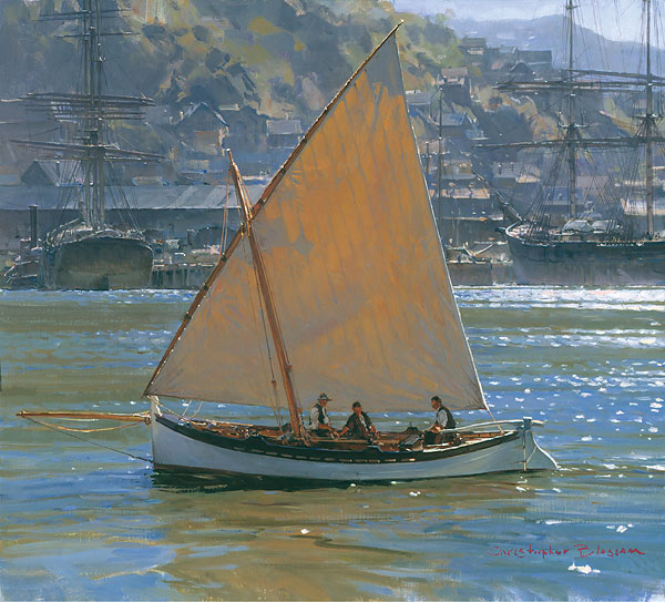 Christopher Blossom - Below Telegraph Hill -  SMALLWORK CANVAS EDITION Published by the Greenwich Workshop