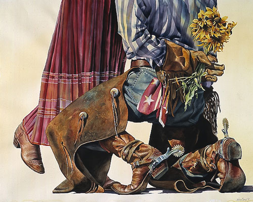 Nelson Boren - COWBOY ROMANCE -  LIMITED EDITION PRINT Published by the Greenwich Workshop