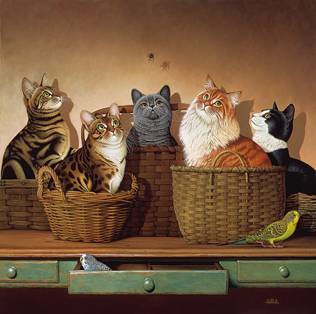 Braldt Bralds - BASKET CASES -  LIMITED EDITION PRINT Published by the Greenwich Workshop